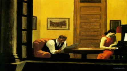 Imagem: Edward Hopper. muddycolors.blogspot.com